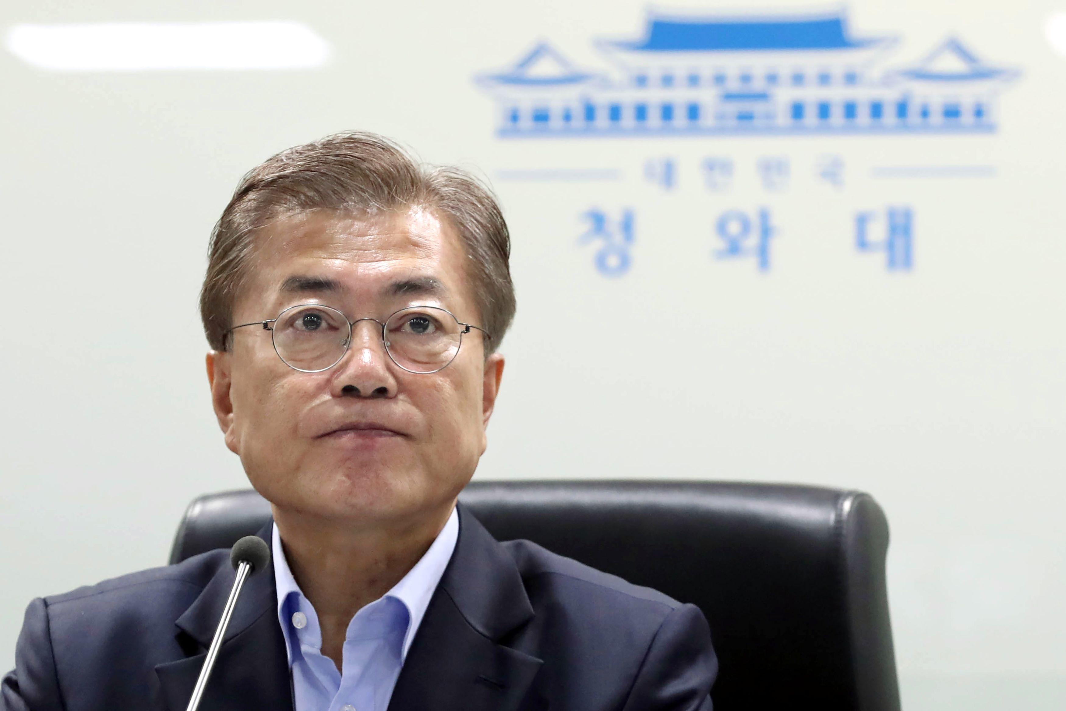 رئيس كوريا الجنوبية مون جاى-إن