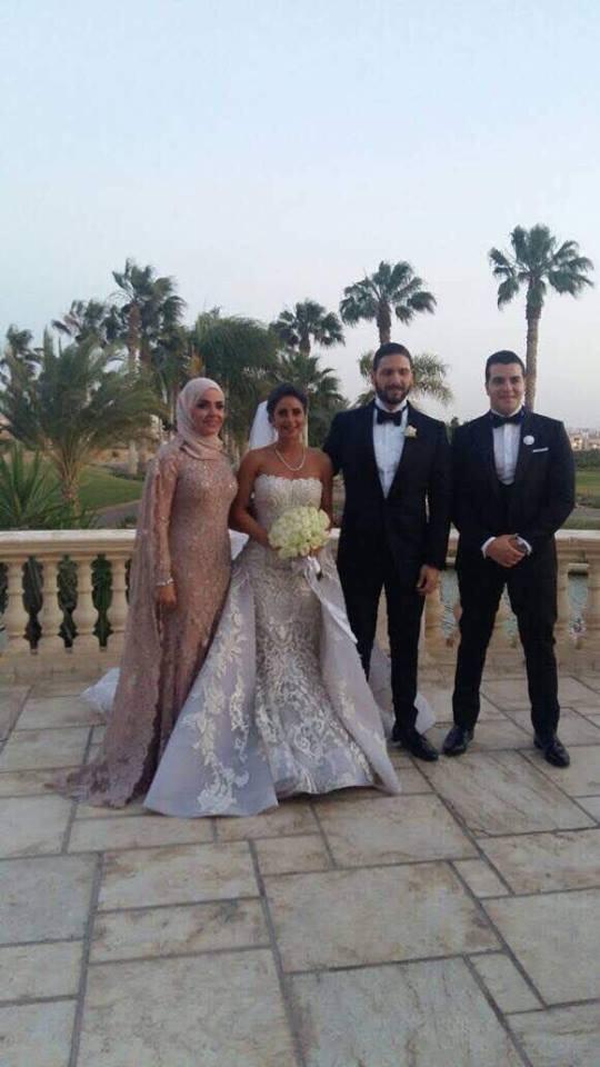 منى عبد الغنى وابنتها ريم سلامة وزوج ابنتها