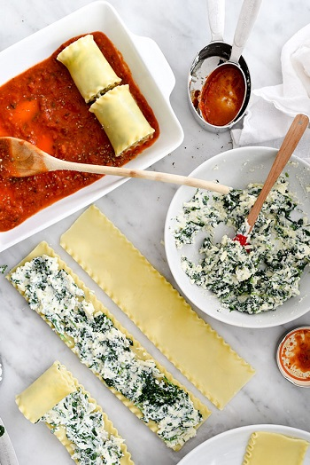 Spinach-Lasagna-Roll-Ups-foodiecrush.com-05