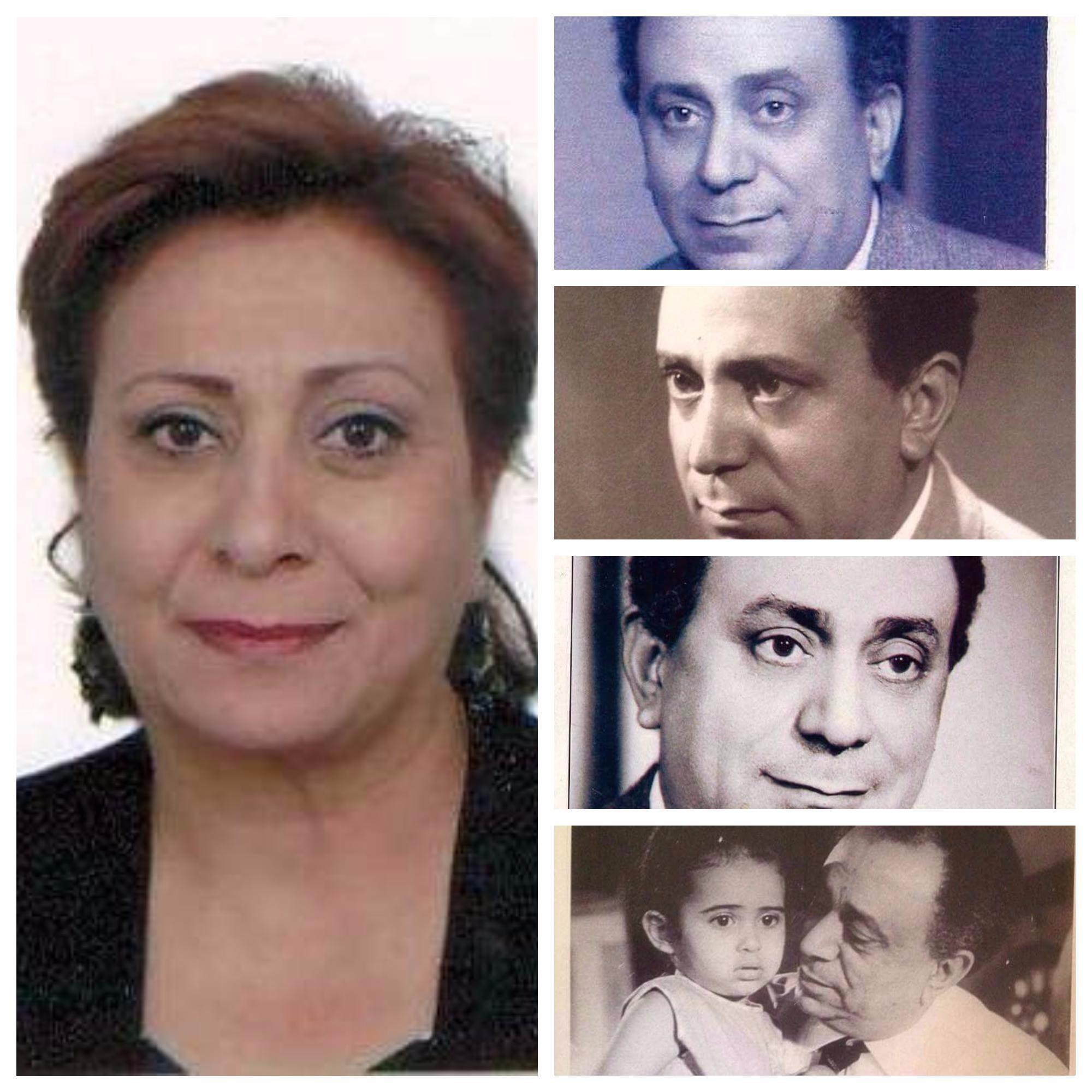 نادية حلمي رفلة ووالدها المخرج والمنتج حلمي رفله