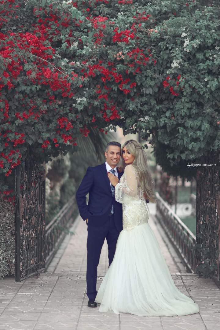 العروسان فى جلسة تصوير