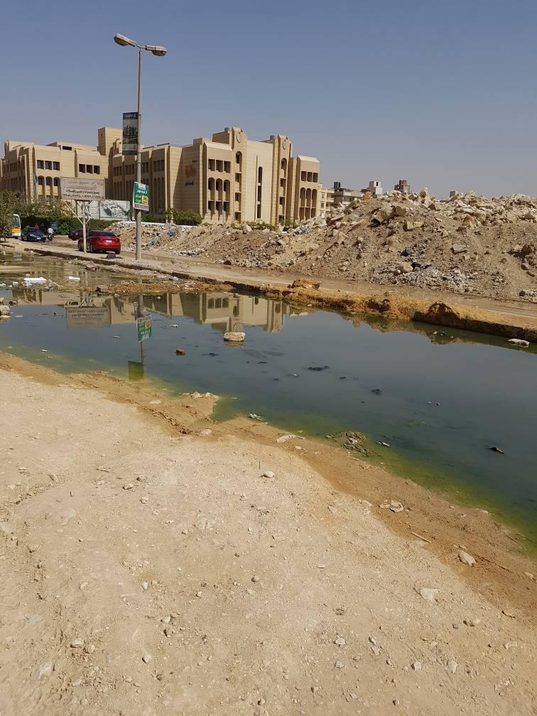 المياه الجوفية تغرق الشوارع