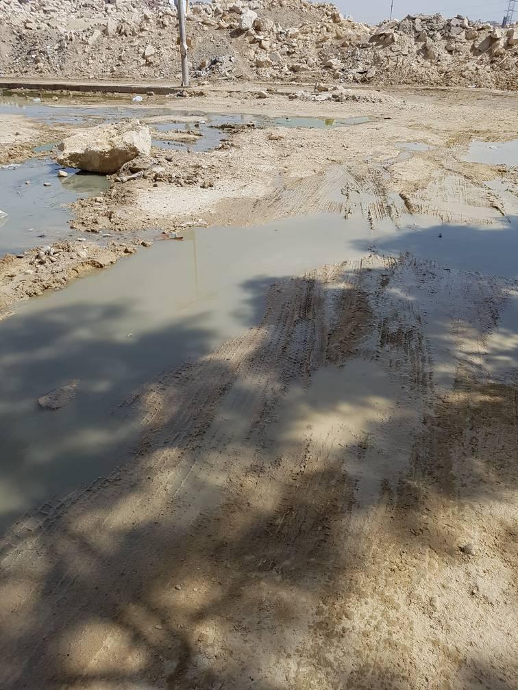 مياه المجارى فى شوارع المقطم