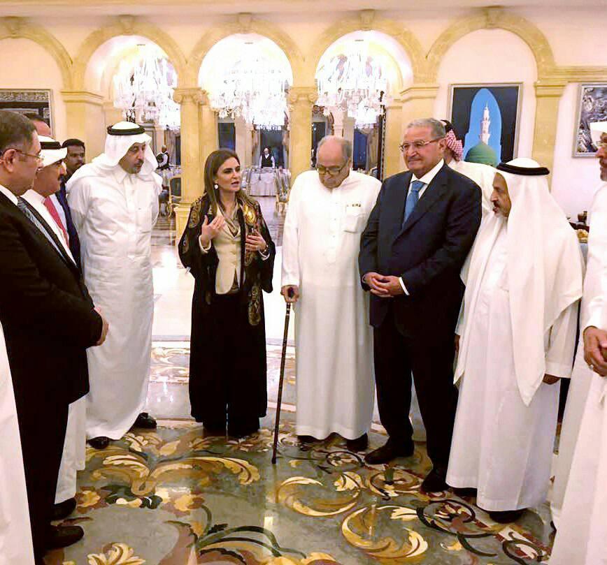 سحر نصر خلال اللقاء مع مستثمرين سعوديين