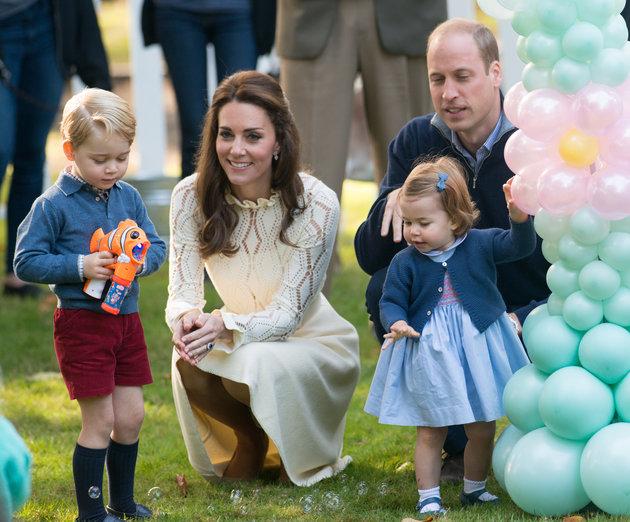 الأميرة تشارلوت والأمير جورج