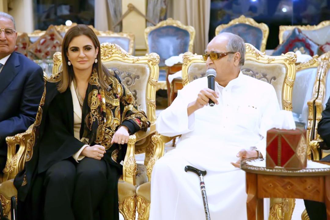 الشيخ صالح كامل رجل الأعمال السعودى وسحر نصر وزيرة الاستثمار المصرية