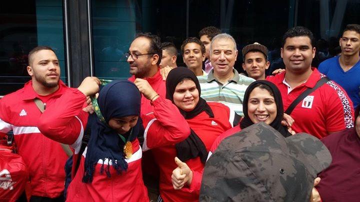 صورة من استقبال أبطال مصر