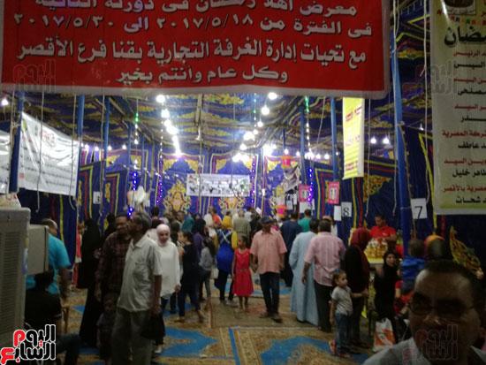 توافد كبير من الأهالى على معرض أهلاً رمضان بالأقصر