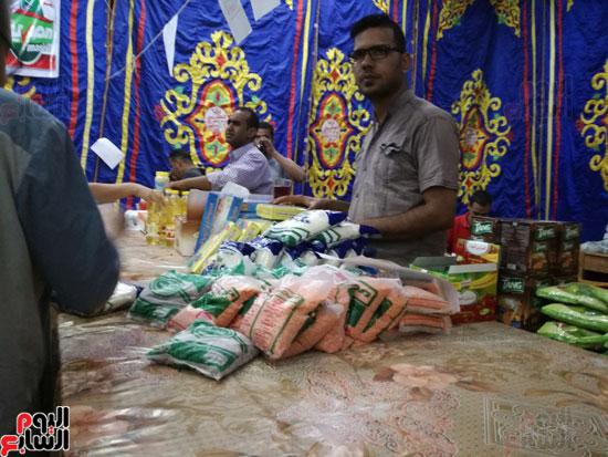 منافذ توزيع السلع للأهالى بمعرض اهلا رمضان الأقصر