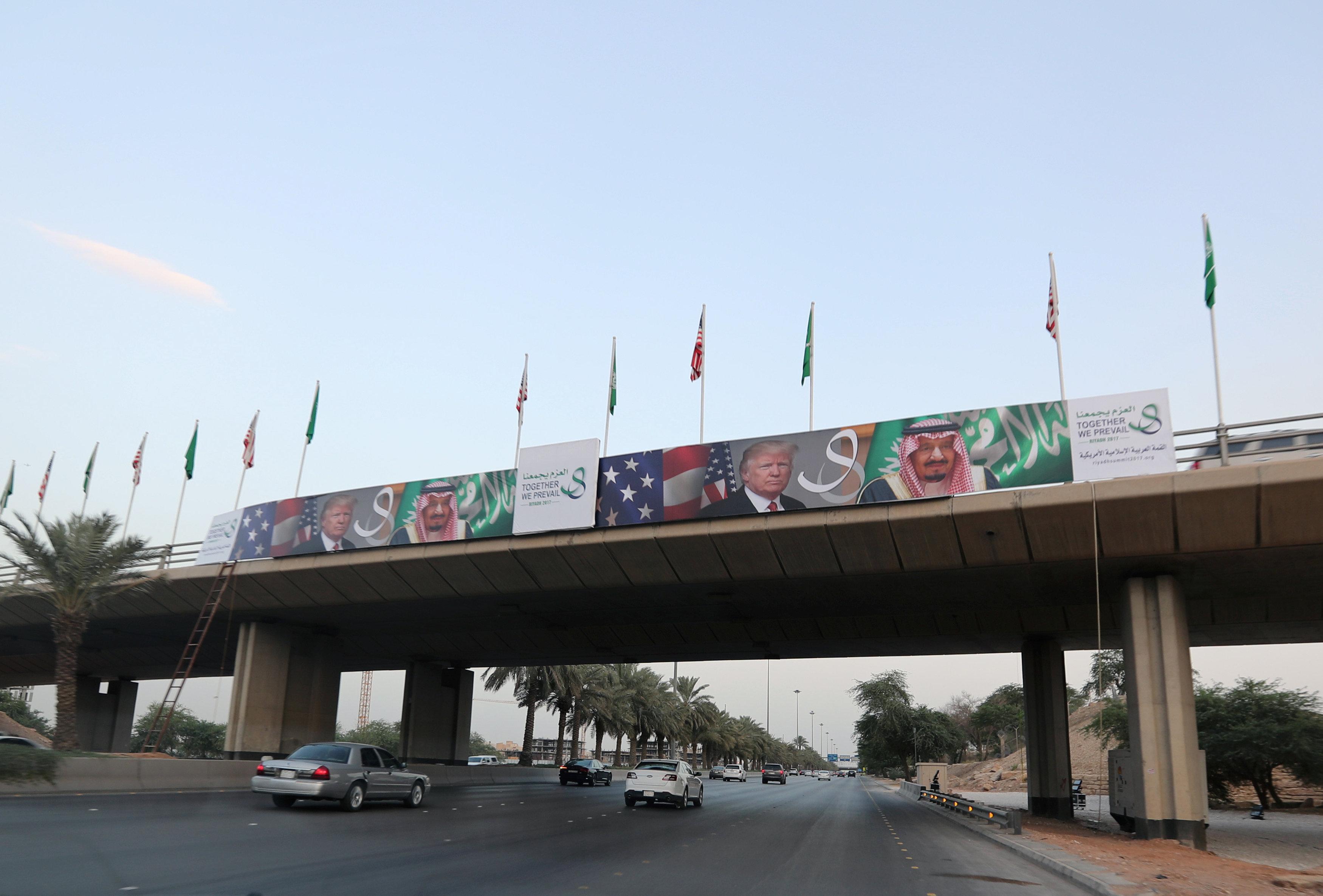 جانب من الاستعدادات السعودية للقمة العربية الإسلامية
