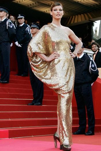 ليندا إفانجيليستا بفستان من لانفين فى حفل مهرجان كان 2008