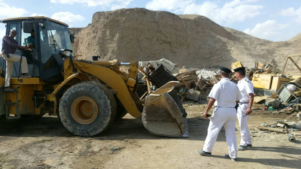 حملات ازالة تعديات على اراضى الدولة بالقاهرة (1)