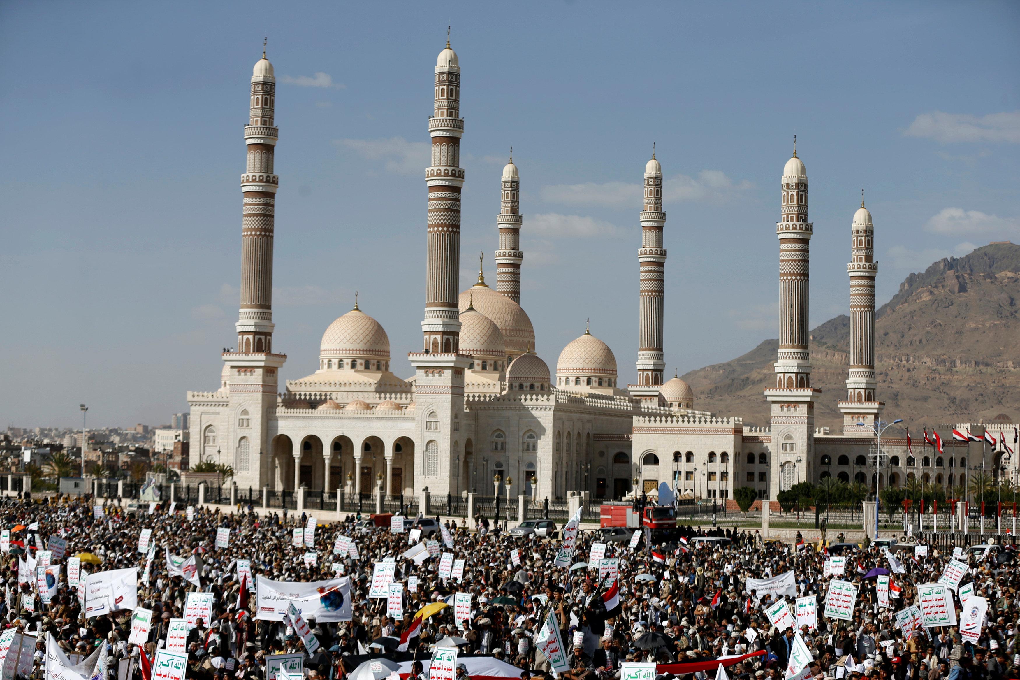 مظاهرات الحوثيين في صنعاء