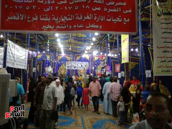 7--توافد-كبير-من-الأهالي-علي-معرض-أهلاً-رمضان-بالأقصر
