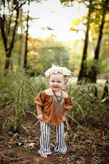 fa4637293 بالصور.. الـOff Shoulder أحدث صيحات موضة ملابس الأطفال للفتيات   ميداني