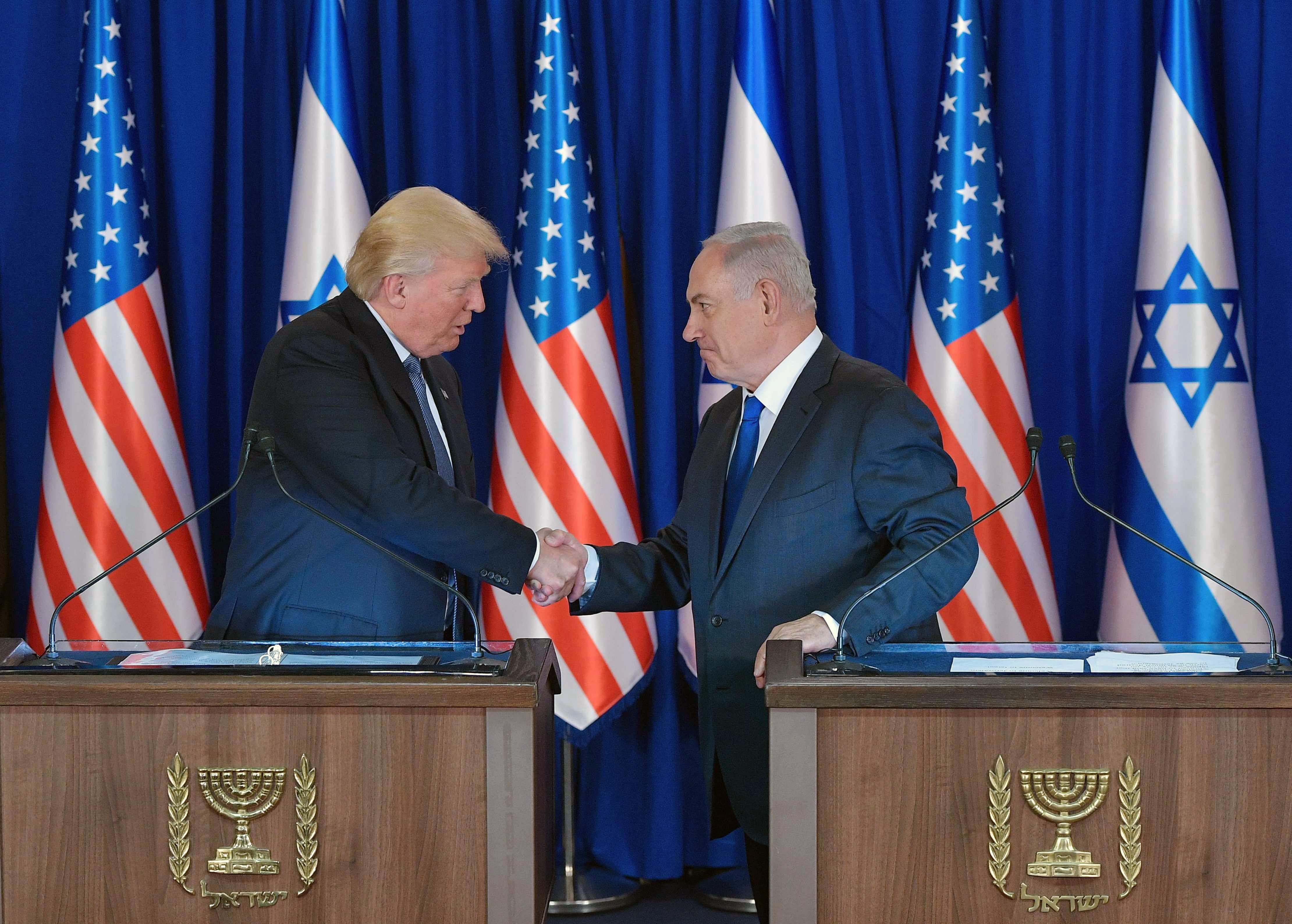 نتيجة بحث الصور عن ترامب وإسرائيل
