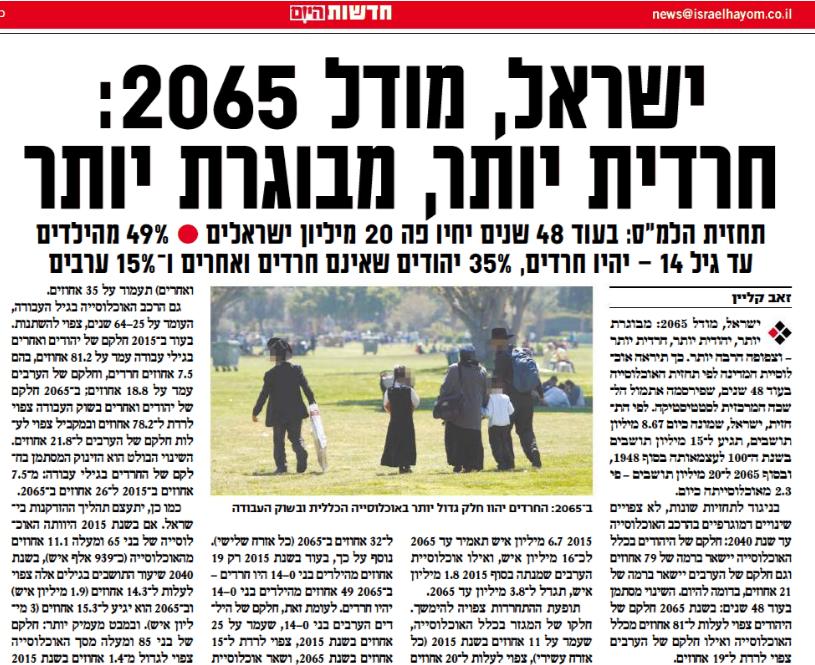 تقرير إسرائيل فى عام 2065