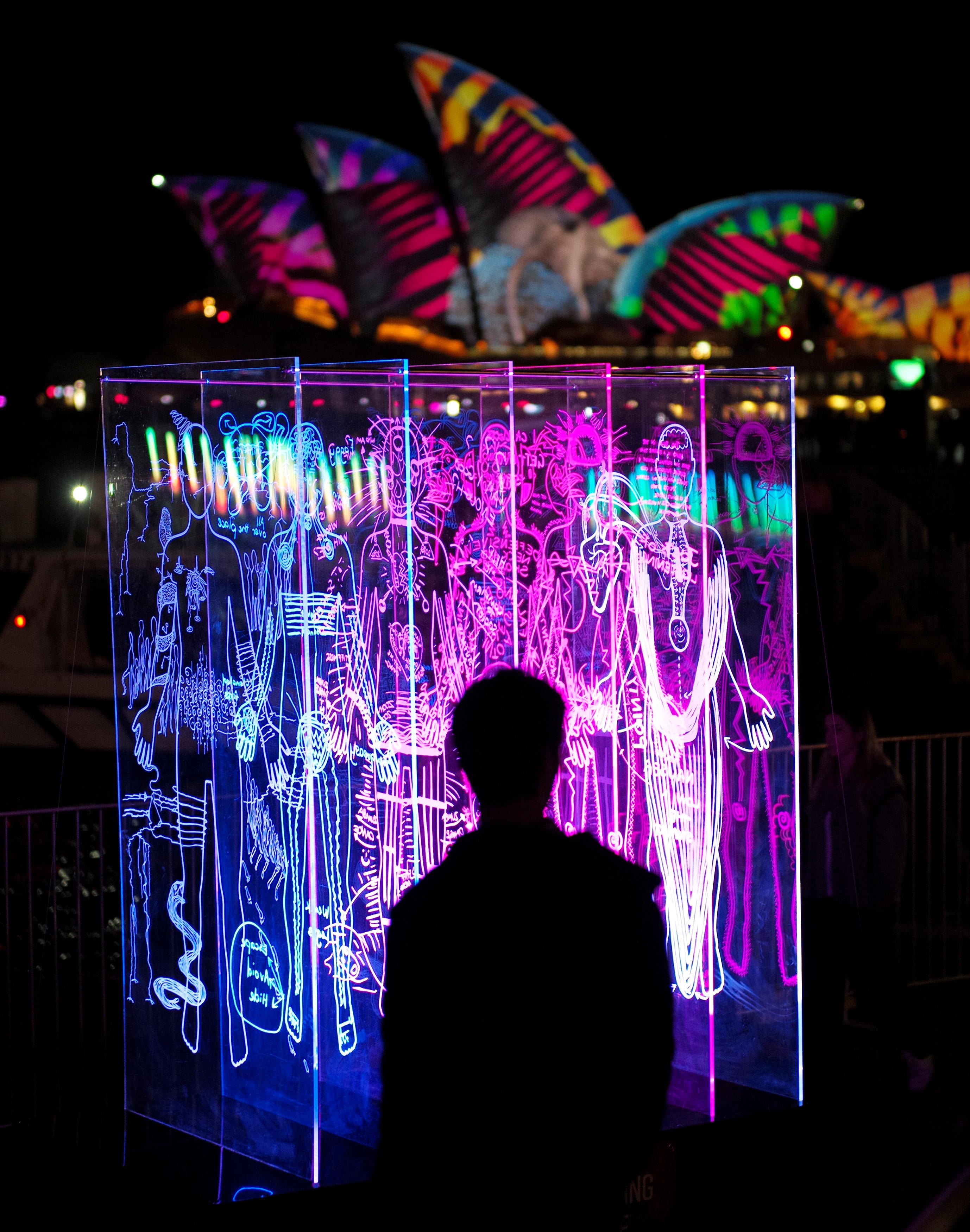 إضاءات زاهية فى مهرجان سيدنى للضوء