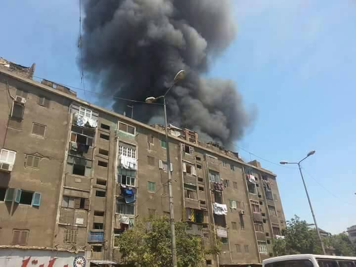 حريق هائل - فى سوق ملابس فى حى إمبابة بالجيزة 41443-333