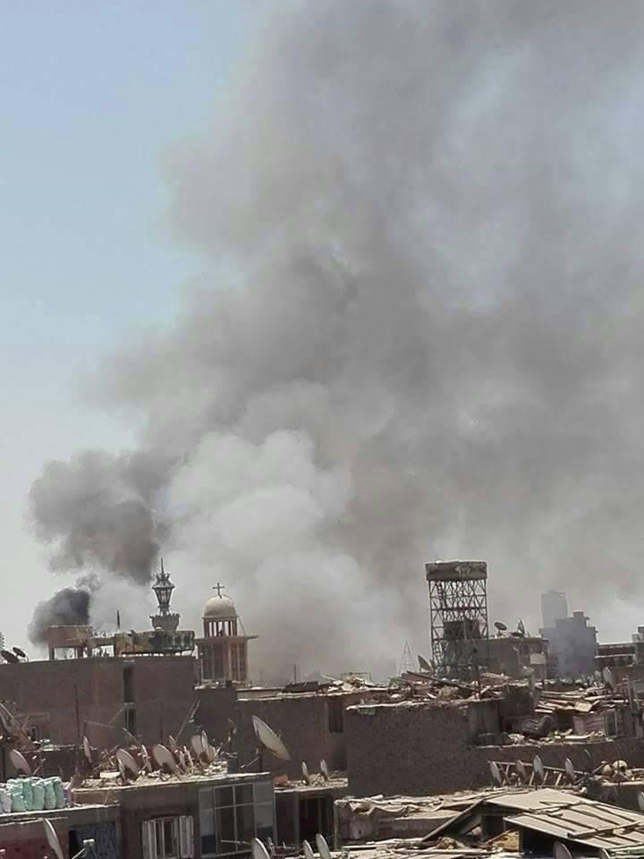 حريق هائل - فى سوق ملابس فى حى إمبابة بالجيزة 50307-1111