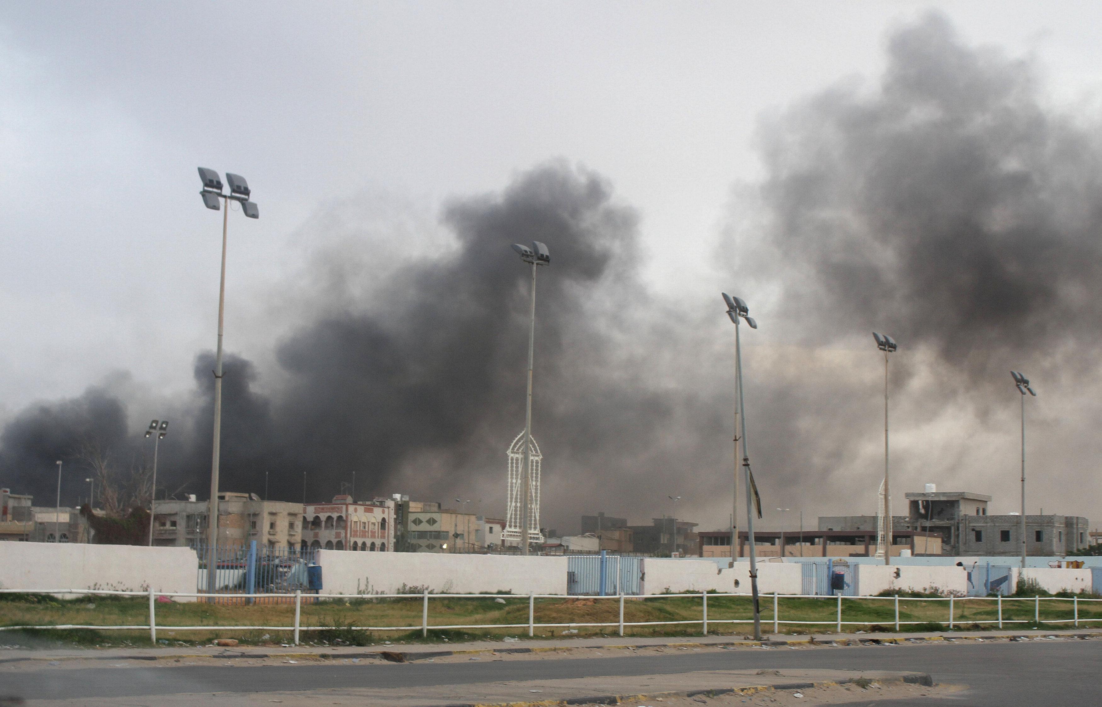 الوضع فى طرابلس بعد اشتباكات بين المسلحين