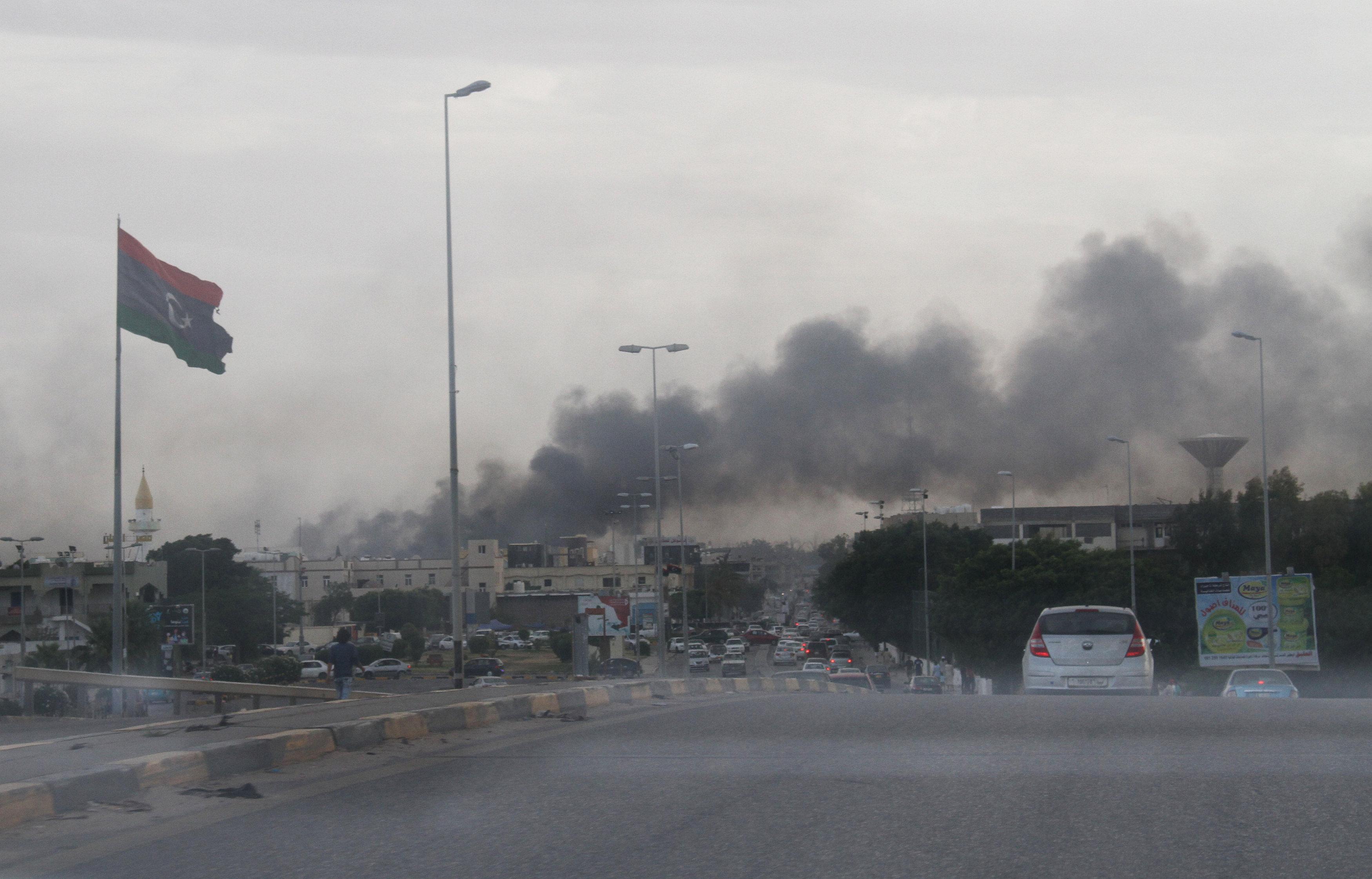 هدوء نسبى فى العاصمة الليبية