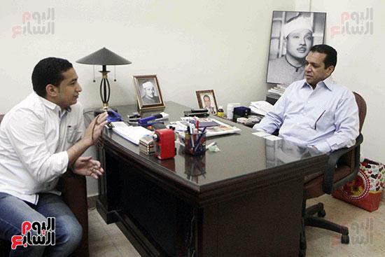 اللواء المقرئ طارق عبد الباسط عبد الصمد يتحدث لليوم السابع