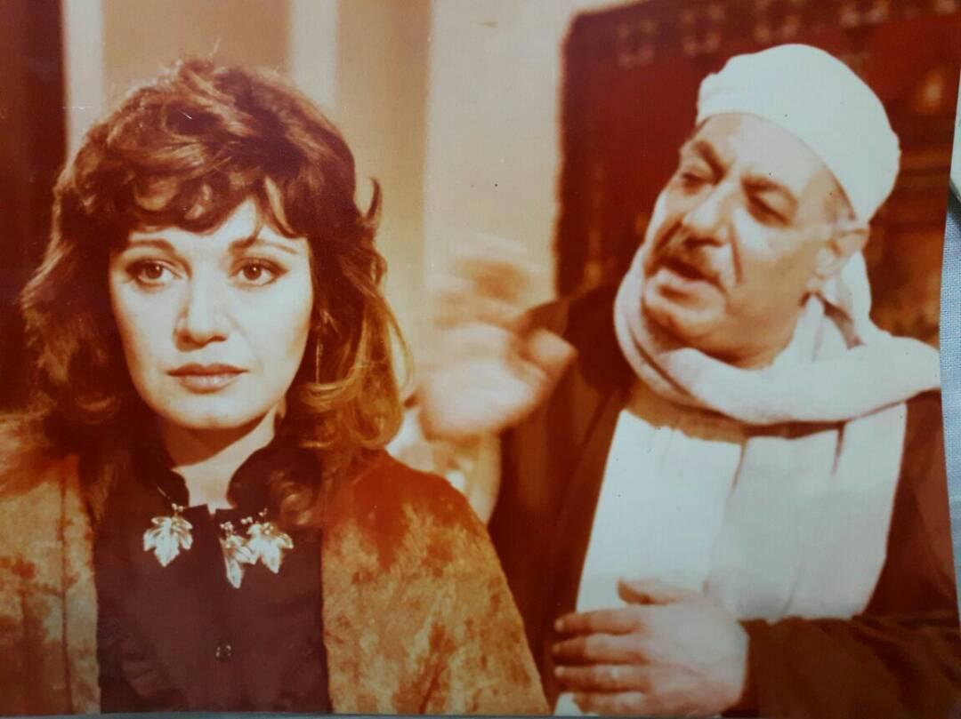 الفنان علي الغندور مع الفنانة مديحة حمدي
