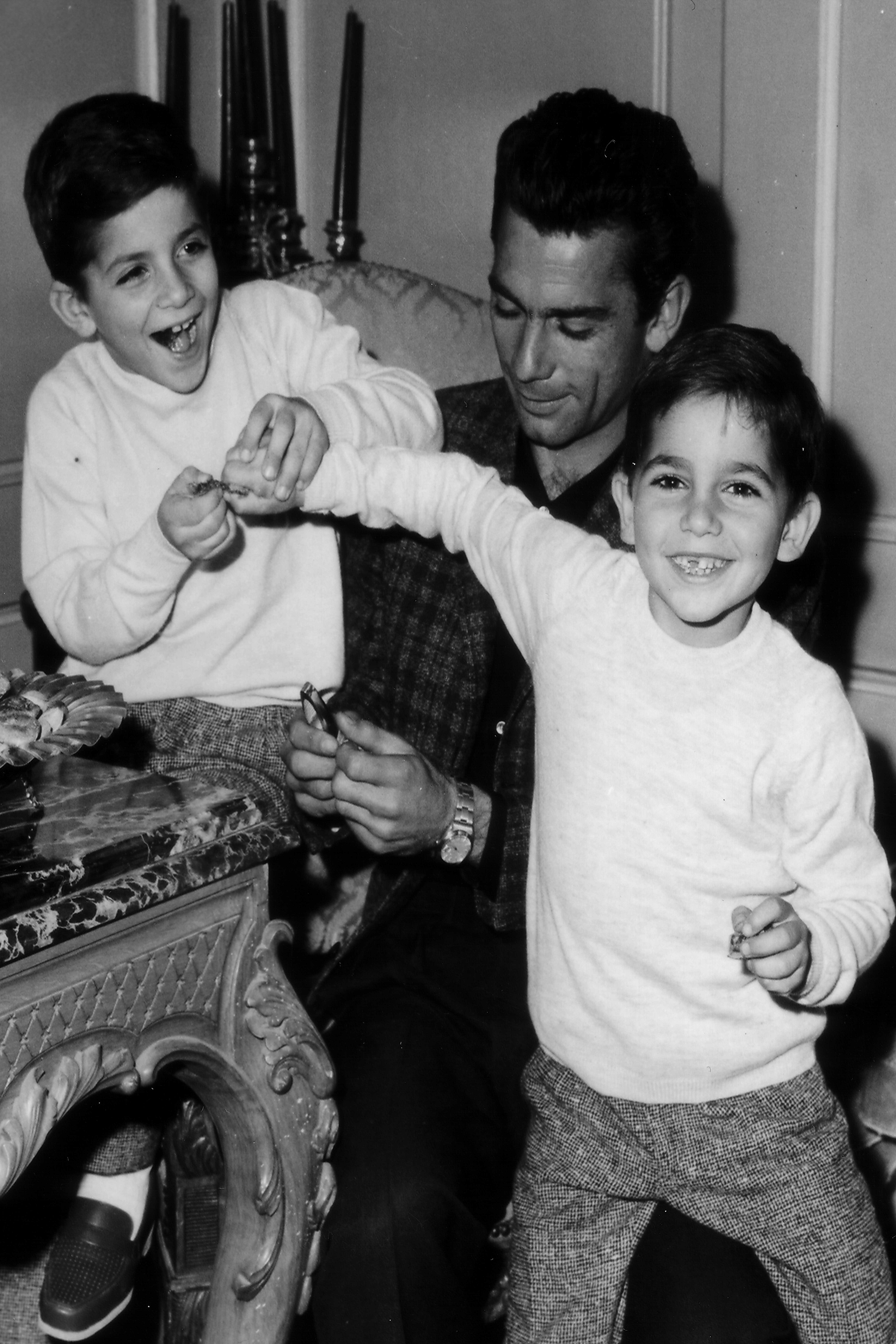المايسترو مع أطفاله