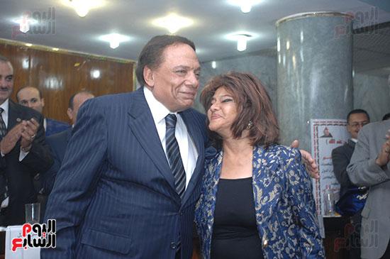 مع النجم الكبير عادل إمام