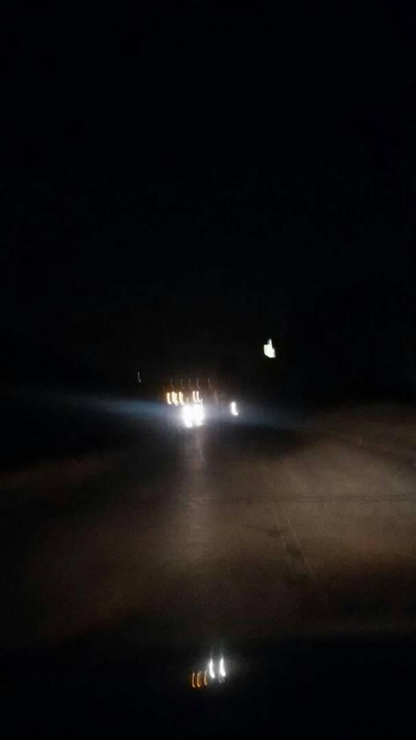 شارع مدرسة البارون بدون إضاءة ليلا
