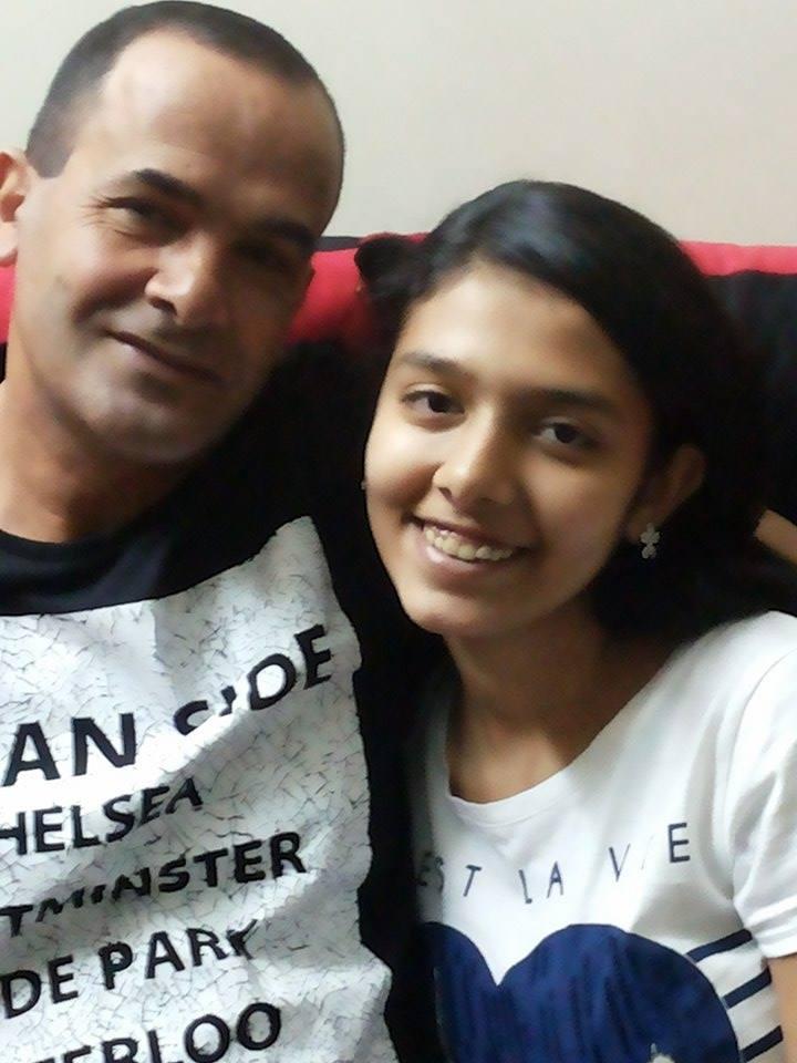 ليديا مع والدها