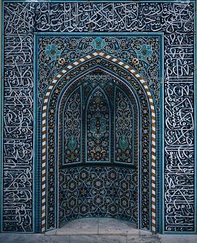 اللون الأزرق في زخرفة المساجد