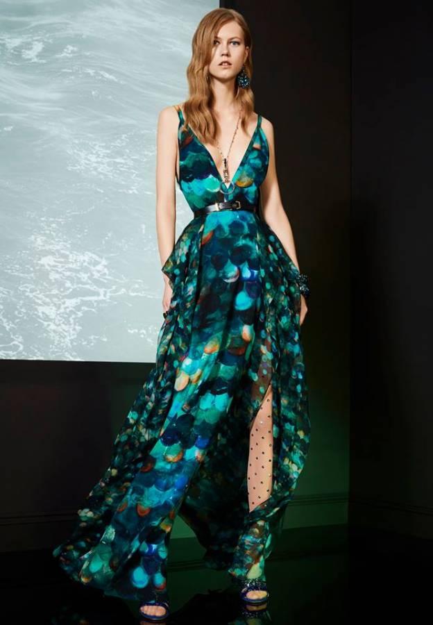 فستان مشجر طويل