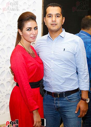محمد الدسوقى رشدى وزوجته داليا النادى