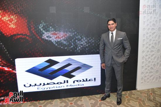 أحمد أبو هشيمة فى حفل إفطار إعلام المصريين