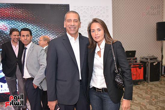 الإعلامية نهال عهدى وزوجها رجل الأعمال محمد الرشيدى