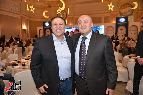 علاء الكحكى رئيس قنوات النهار ورجل الأعمال إيهاب طلعت