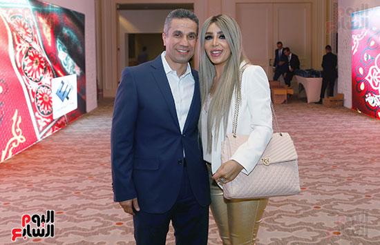 العميد محمد سمير المتحدث العسكرى السابق وزوجته الإعلامية إيمان أبو طالب