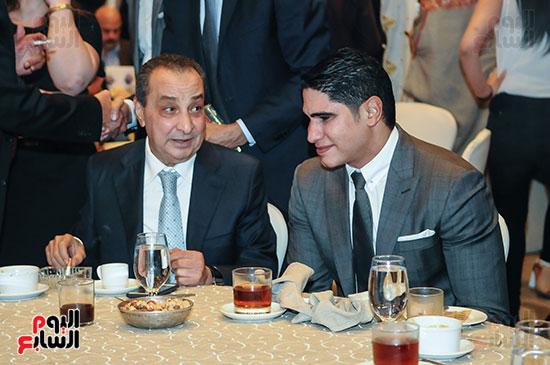 """رجل الأعمال أحمد أبو هشيمة رئيس مجلس إدارة """"إعلام المصريين"""" ورجل الأعمال محمد الأمين"""
