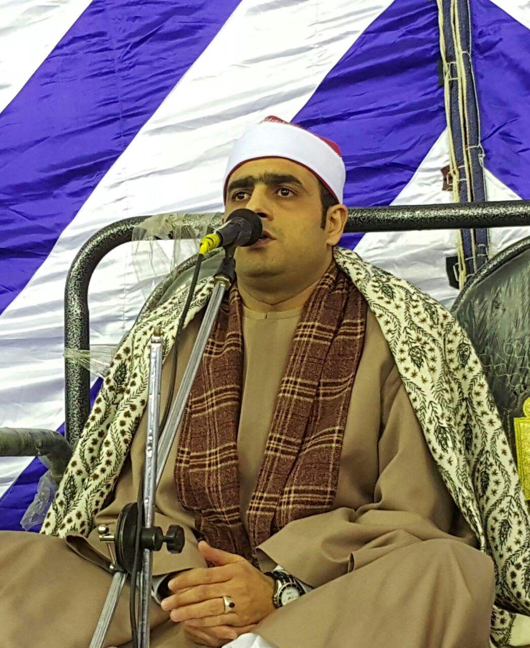 الشيخ أسامة محمد بسيونى فى إحدى الحفلات