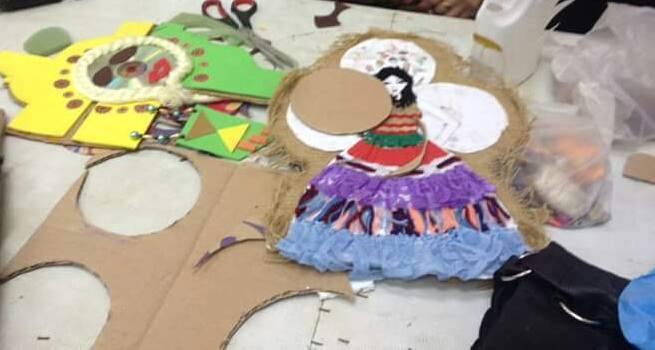 أطفال محافظة المنيا يستغلون خامات البيئة فى متحف ملوى (8)