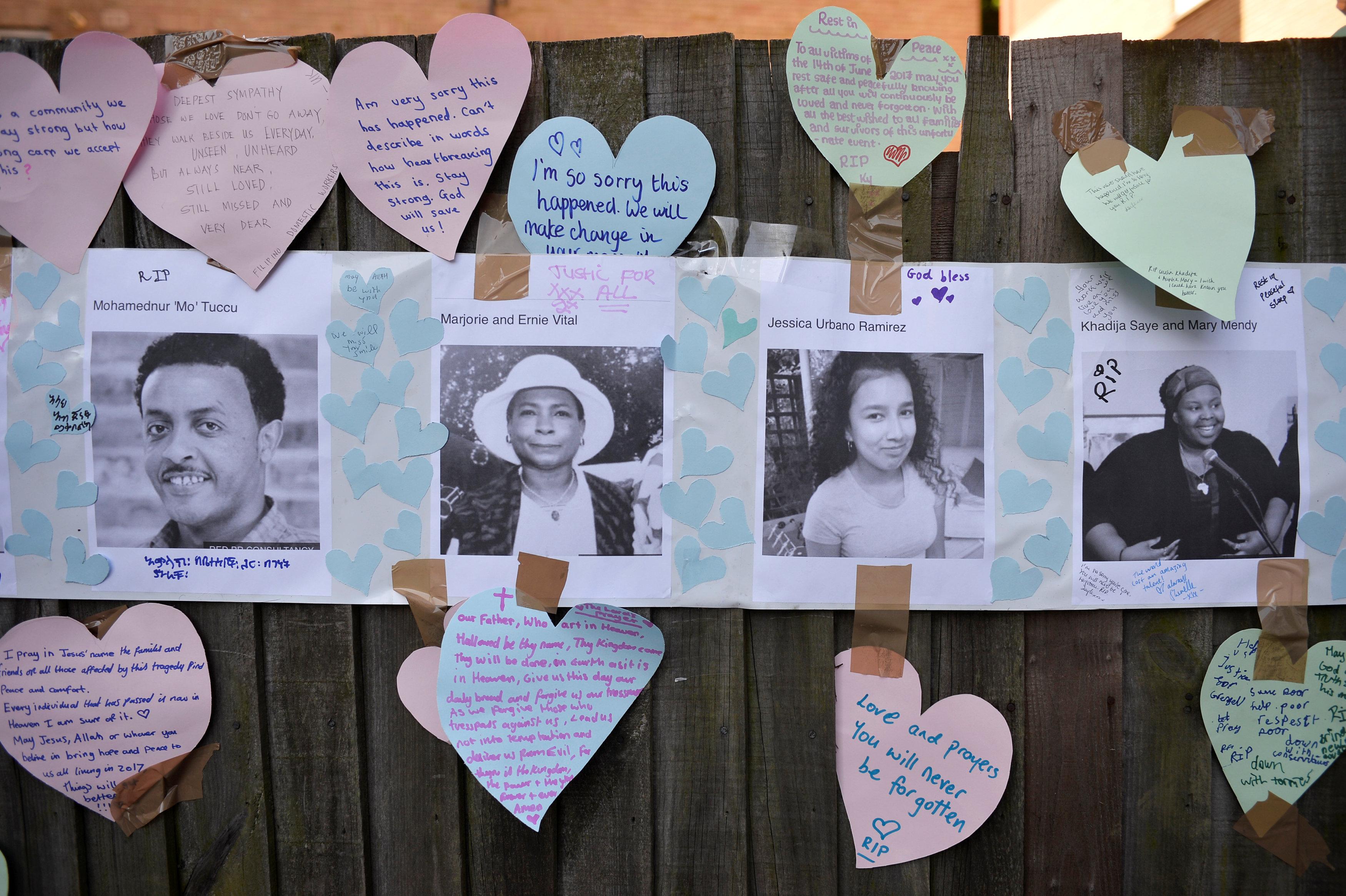 صور ضحايا البرج المحترق فى لندن