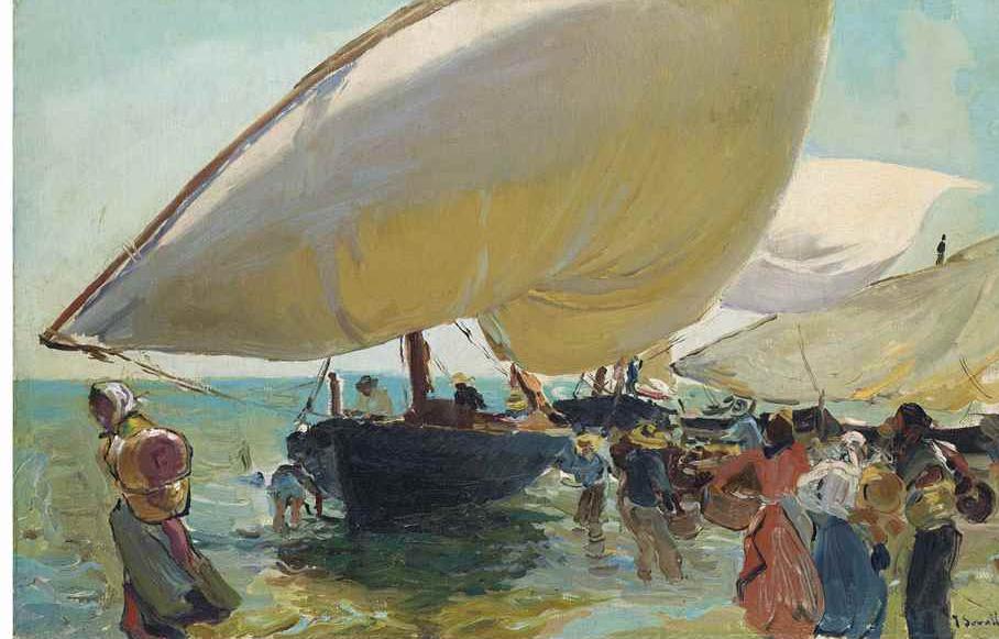 وصول القوارب