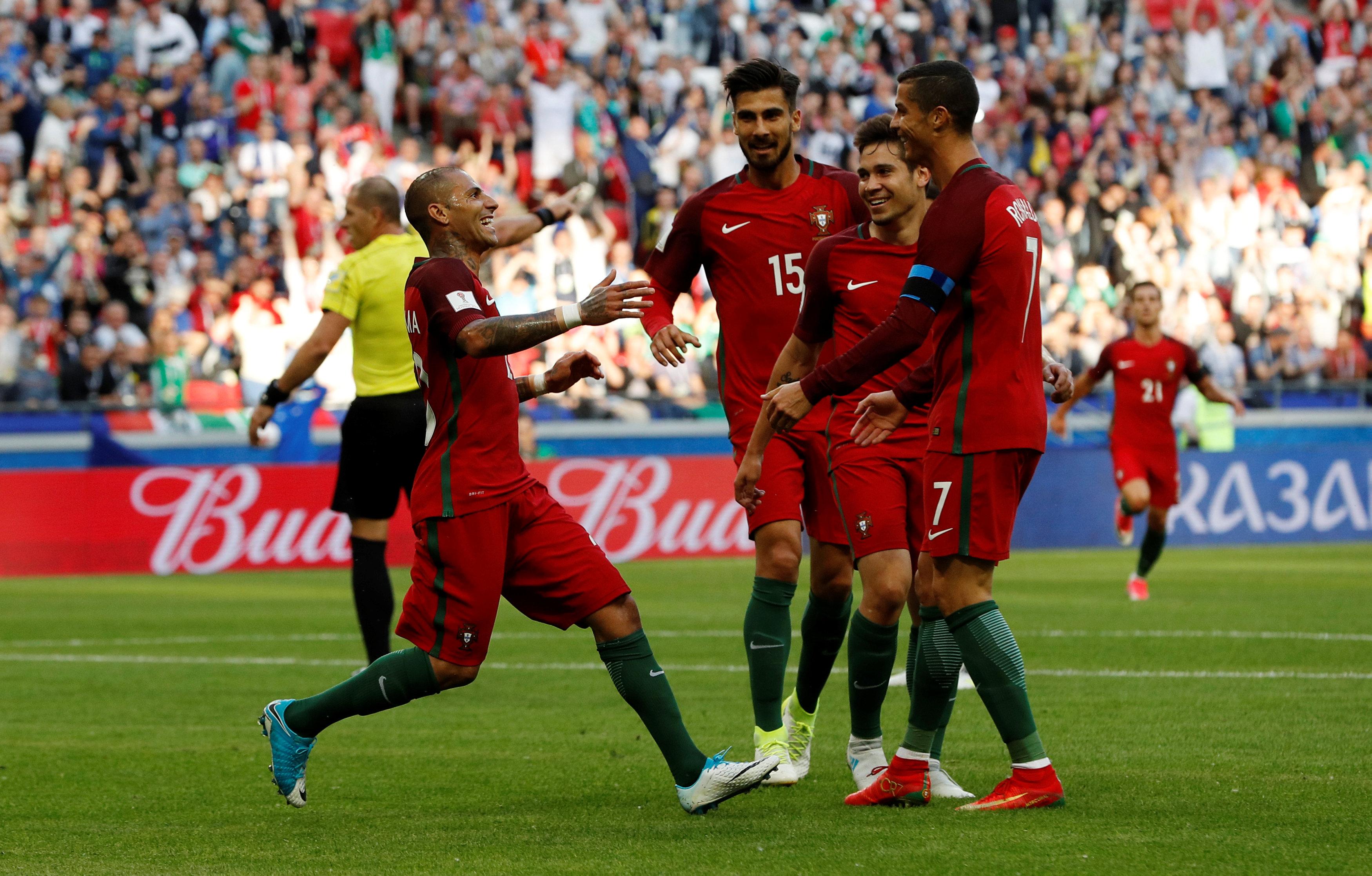 احتفال المنتخب البرتغالى