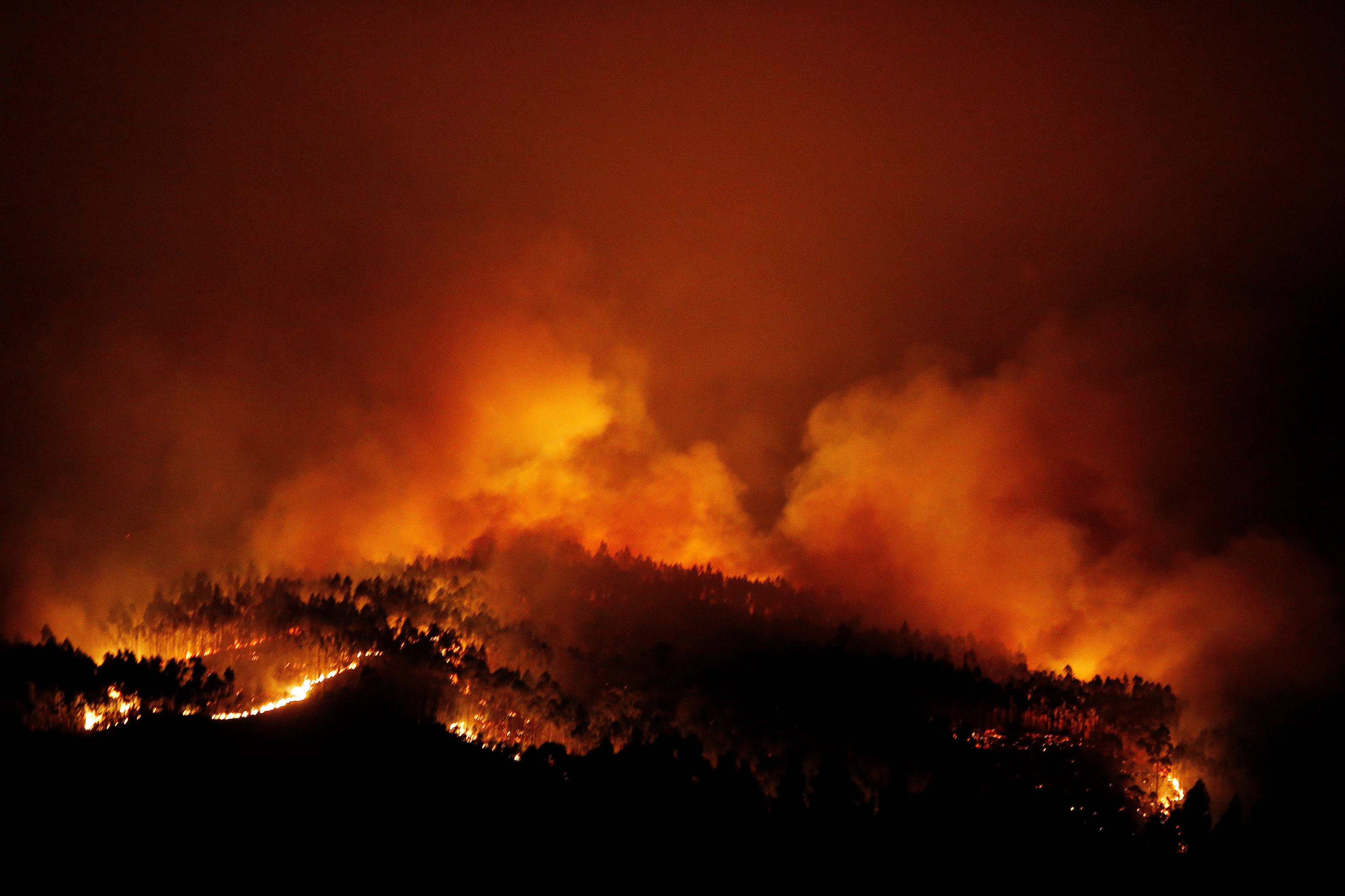 استمرار حرائق الغابات فى البرتغال