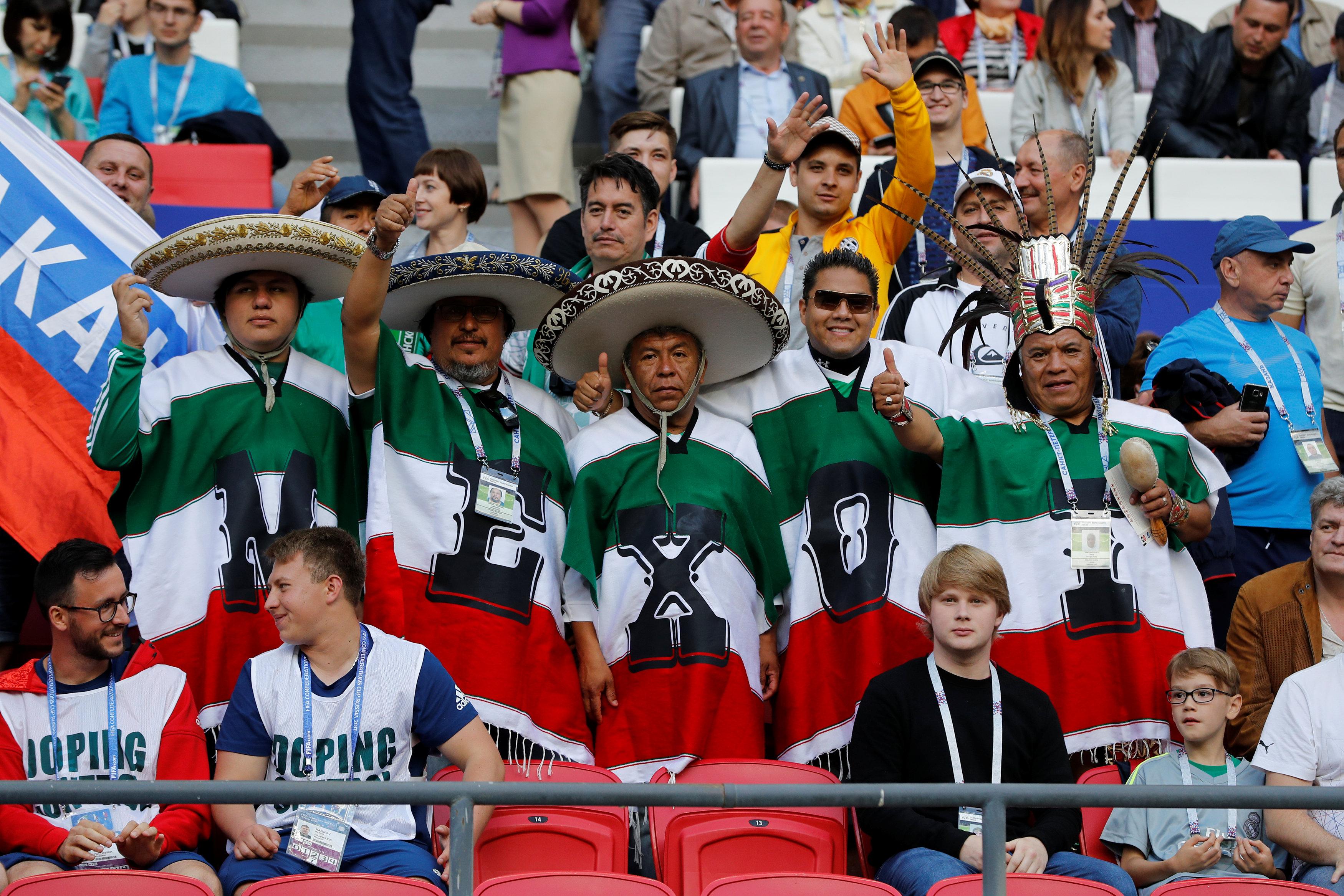جماهير المكسيك فى المدرجات