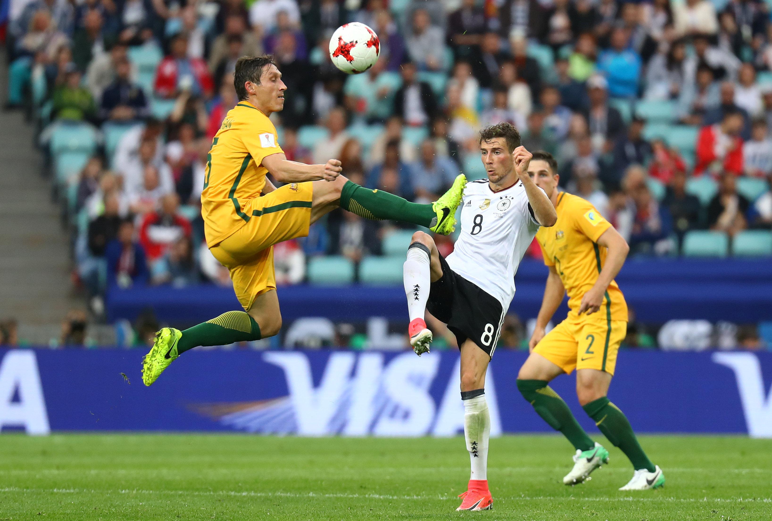 جانب من مباراة ألمانيا وأستراليا
