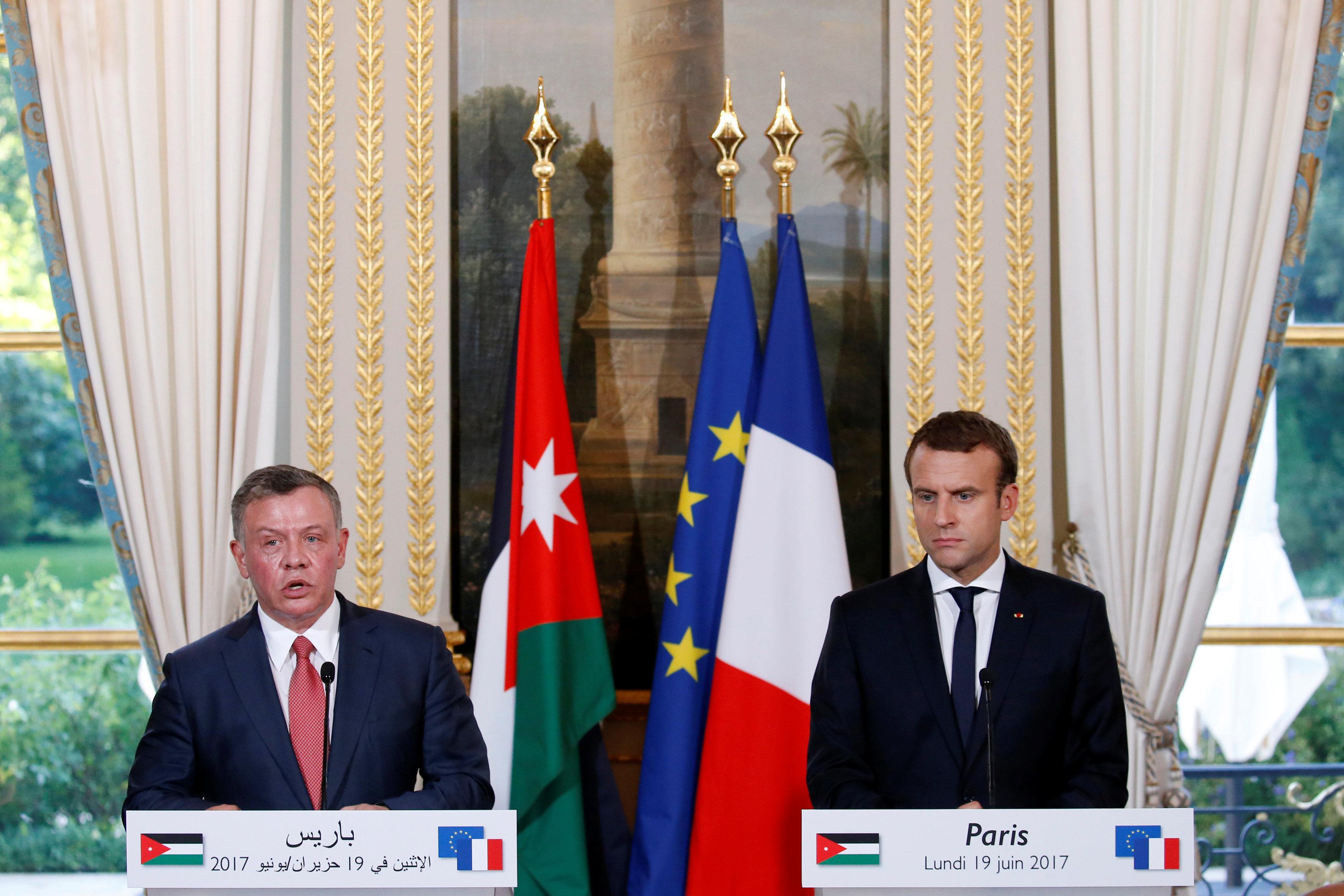 قمة بين رئيسى فرنسا والأردن