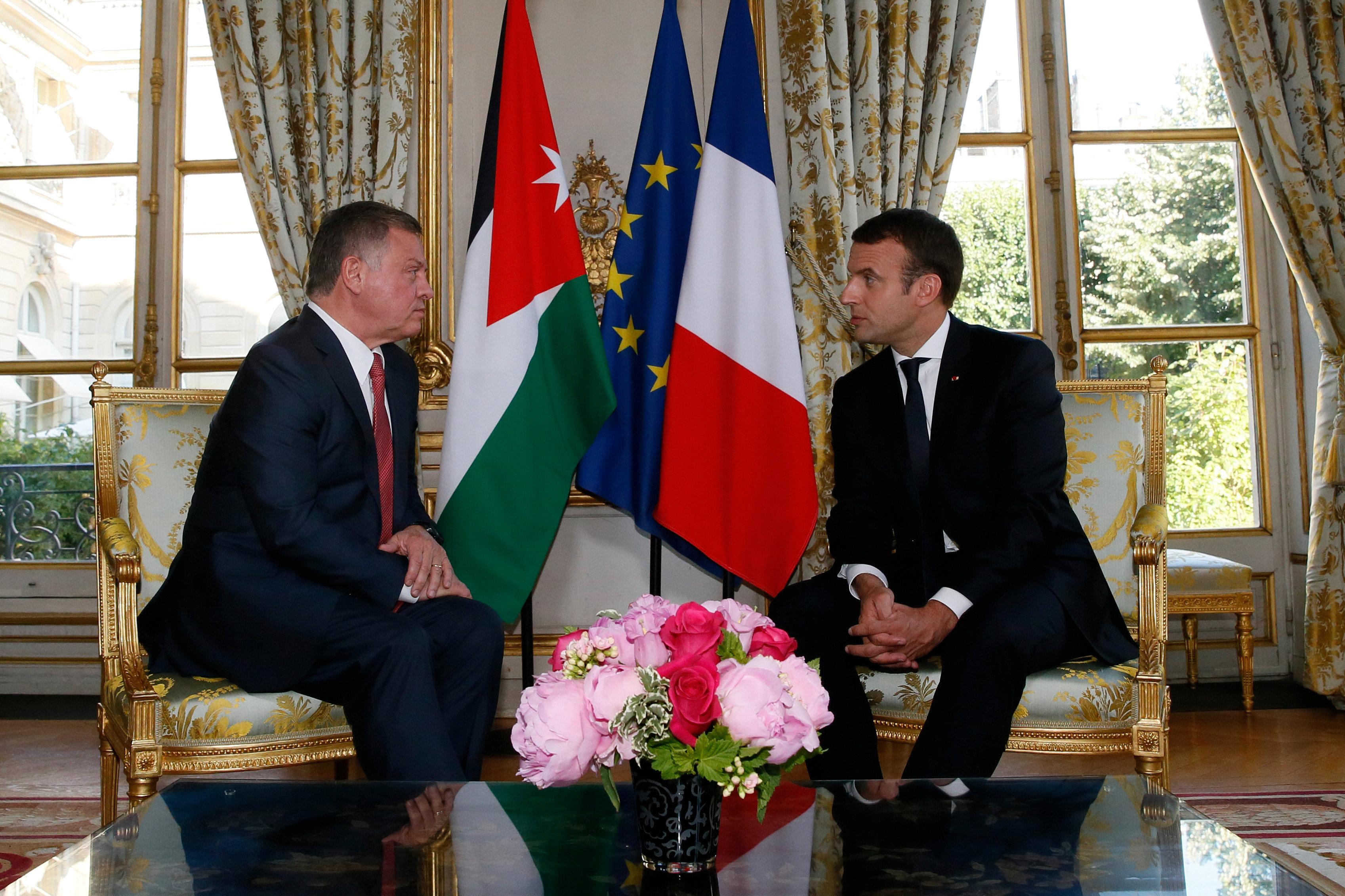 القمة الفرنسية الأردنية فى باريس